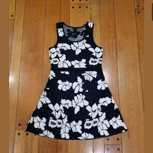 Ann Taylor Floral Print Jacqaurd Dress M